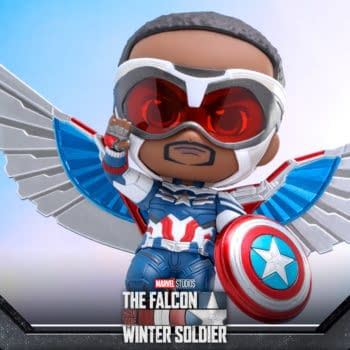 Sam Wilson Captain America Cosbaby Flies On In From Hot Toys