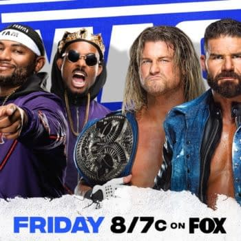 Match graphic for The Dirty Dawgs vs. The Street Profits for the WWE Smackdown Tag Team Championships