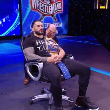 Roman Reigns reluctantly prepares to watch another episode of WWE Smackdown.