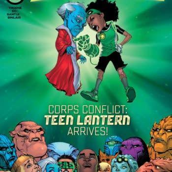 The Bernard Chang main cover to Green Lantern #1, by Geoffrey