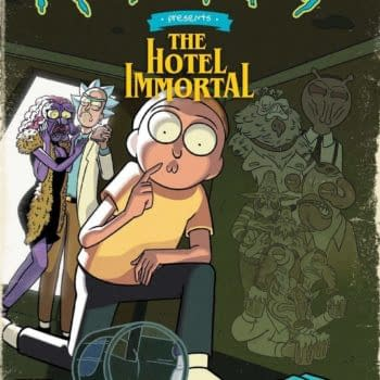 The cover to Rick and Morty Presents: The Hotel Immortal