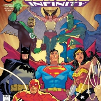 The main cover to Justice League Infinity