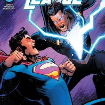 """The David Marquez main cover to Justice League #60, by """"The Great One"""" Brian Bendis and David Marquez, with a backup story by Ram V and Xermanico, in stores Tuesday, April 20th from DC Comics"""