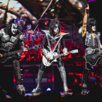 GRAND RAPIDS, MICHIGAN / USA - March 9, 2019: KISS performs live at Van Andel Arena (Tony Norkus / Shutterstock.com)