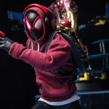 """Hot Toys Teases Spider-Man: Miles Morales Bodega Cat Suit Figure  Spider-Man is swinging back into action as Hot Toys gives fans a look at one of their upcoming 1/6 scale figure that is purrfect  #MilesMorlales #SpiderMan teams up with #SpiderMan the Cat as #HotToys teases upcoming Bodega Cat 1/6 scale figure  Hot toys, miles Morales, spider-man, marvel, PS5    One of the biggest things to come of of Marvel's Spider-Man: Miles Morales was the newly added costumes. Miles Morales has not been in the comic book world for that long compared to other like OG Spider-Man, Iron Man, and Captain America. This means the long lasting characters have a long history with new costumes that are iconic for each. Insomiac continues the costume selection menu in the Miles Morales game but it involved them created their own unique costumes. While some comic book costumes did make it in the game like The End, 2020 Variant, and Into the Spider-Verse other are original creations. These suits include the STRIKE suit, Programmable Matter Suit, Purple Reign, and the fan favorite Bodega Cat Suit. The Bodega Cat suit shows Miles and his partner Spider-Man (the cat's name is Spider-Man) and Hot Toys is bringing this suit to life.  Recently revealed during the Sideshow Collectibles Micro Con Digital Event, fas for to see an unclose look ash the upcoming figure. Spider-Man: Miles Morales fans have already seen 1/6 scale figures from the Winter Suit and the 2020 suit, making this the games third figure. Spider-Man is fully detailed and will feature his headphones, hoodie, and backpack holding Spider Cat. This will be an excellent collectible for any fan of the series and while pre-orders are not live yet fans can RSVP for one here. Miles Morales continues to get more popular and I can not wait to see the figures full reveal and what other costumes are up Hot Toys sleeves next.         """"Hey Spider-Man fans, presenting the Miles Morales (Bodega Cat Suit) Sixth Scale Figure by Hot Toys. This piece i"""