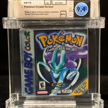 Pokémon Crystal WATA A++ Graded 9.4 For Auction At Comics Connect