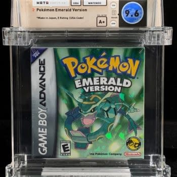 Pokémon Emerald, Graded 9.6 WATA A+, Auctioning At Comics Connect