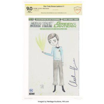 Jessica Von Braun Sketches Star Trek/Green Lantern #1