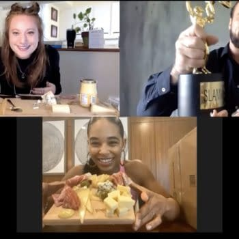 Bianca Belair presents her WrestleMania-worthy cheese board at the Peacock Meat-Up.