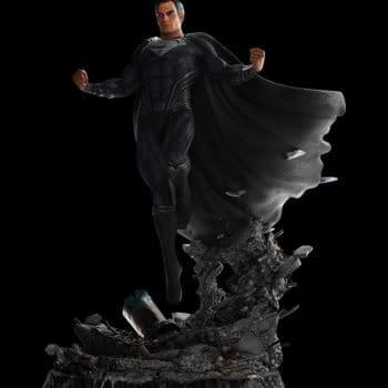 Superman Gets 1,000LE Black Suit Statue From Weta Workshop