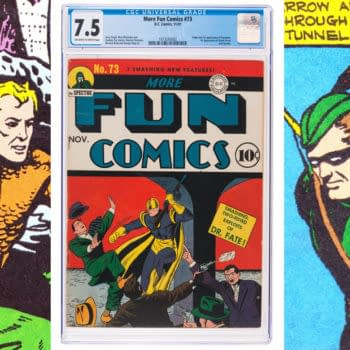 More Fun #73, first appearance of Green Arrow and Aquaman, DC Comics 1941.