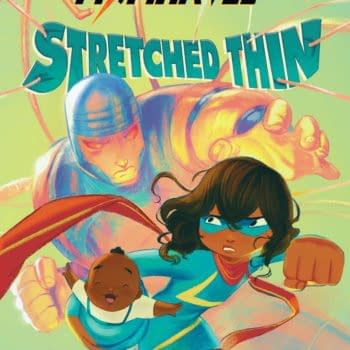 The cover to Ms. Marvel: Stretched Thin, the new middle-grade original graphic novel written by Nadia Shammas and illustrated by Nabi H. Ali coming to stores on September 7th, 2021