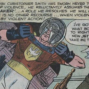 Peacemaker introduced in Fightin' Five #40, 1966 Charlton Comics.