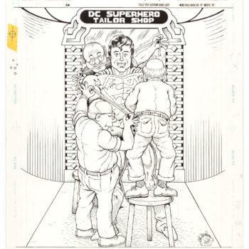 Al Jaffee's MAD Magazine Superman Fold-Out Original Art At Auction