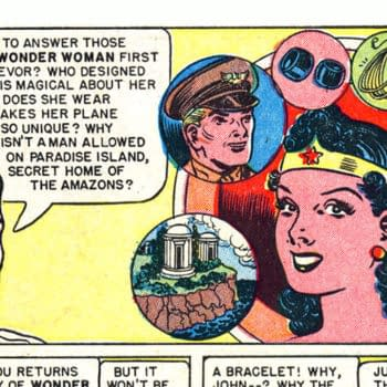Wonder Woman #45 panel detail drawn by H.G. Peter, DC Comics 1951.
