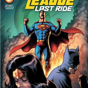 Cover image for JUSTICE LEAGUE LAST RIDE #1 CVR A DARICK ROBERTSON