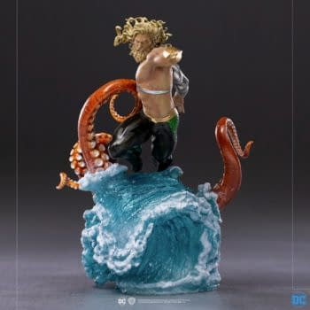 Aquaman Rises to The Surface With New Iron Studios Statue