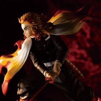 Demon Slayer Kyojuro Rengoku Brings the Heat to Kotobukiya