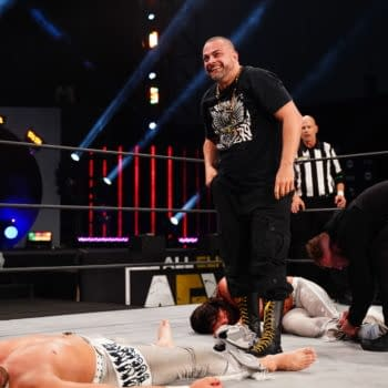 Photos from The Young Bucks vs. Varsity Blonds on AEW Dynamite [Credit: All Elite Wrestling]