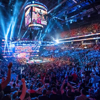 Fans gather to watch WWE SummerSlam in the pre-COVID era, when the only thing you needed to worry about was the really bad BO