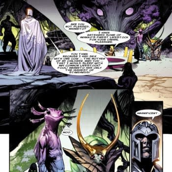 Planet-Sized Improbable Previews - a page from Planet-Sized X-Men #1, by Gerry Duggan and Pepe Larraz, helpfully lettered by Jude Terror, in stores from Marvel Comics on June 16th.