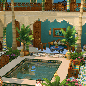 The Sims 4 Will Release The Courtyard Oasis Kit Next Week