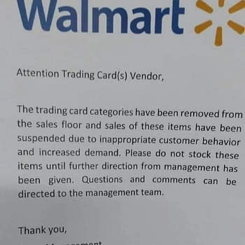 Wal-Mart Allegedly Suspending Trading Card Game Sales