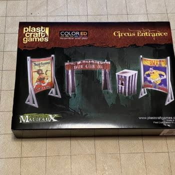 Review: Wyrd Miniatures' Circus Entrance Terrain by Plastcraft