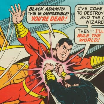 Shazam! #28 featuring Black Adam, art by Kurt Schaffenberger, DC Comics 1977.