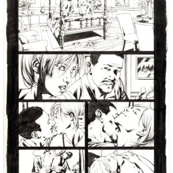 Tony Stark & Black Widow Ultimates Sex Scene By Bryan Hitch Auctioned