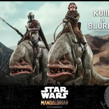The Mandalorian Kuili Rides The Blurg Once Again With Hot Toys