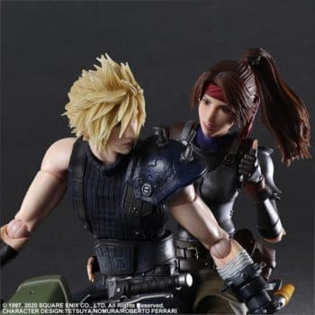 Final Fantasy VII Cloud and Jessie Take to The Streets With Play Arts