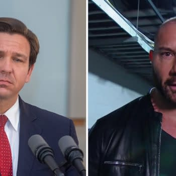 Dave Bautista has no love for Florida Governor Ron DeSantis, an ally of Bautista's mortal enemy, fellow WWE Hall-of-Famer Donald Trump