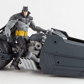 Batman Takes To The Streets With A New McFarlane Toys Batcycle