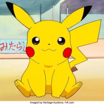 Pokémon's Pikachu Color Model/Publicity Cel On Auction At Heritage