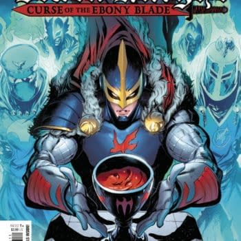 Cover image for APR210922 BLACK KNIGHT CURSE OF THE EBONY BLADE #4 (OF 5), by (W) Simon Spurrier (A) Sergio Davila (CA) Iban Coello, in stores Wednesday, June 30, 2021 from MARVEL COMICS