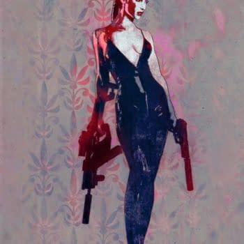 Cover image for GUN HONEY #1 (OF 4) CVR G 25 COPY SIENKIEWICZ PINK WASH VIRG