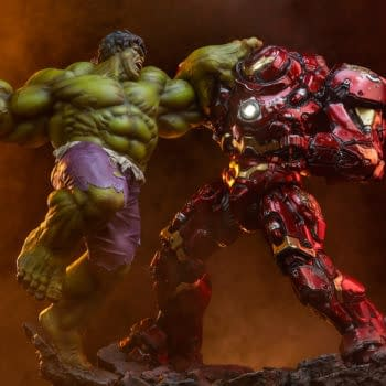 Sideshow Collectibles Reveals Powerful Hulk vs Hulkbuster Statue