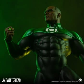 Green Lantern John Stewart Shows Cosmic Power With Tweeterhead