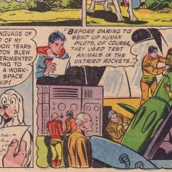 Adventure Comics #210 (DC, 1955), the first appearance of Krypto.