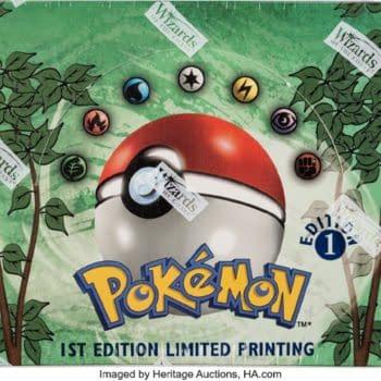 Pokémon TCG 1st Ed. Jungle Booster Box On Auction At Heritage