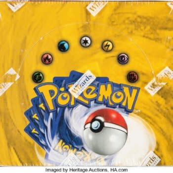 Pokémon TCG 1st Ed. Base Set Booster Box Auctioning At Heritage
