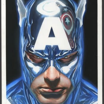 Two Alex Ross Captain America Painted Covers At Auction