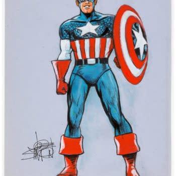Joe Simon's Captain America & Dick Tracy Original Artwork At Auction