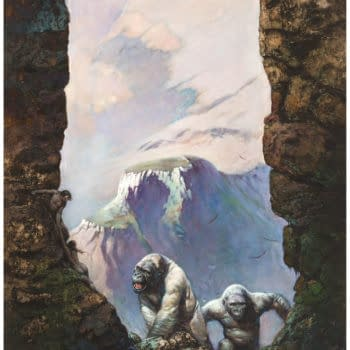 Frank Frazetta's Outlaw World White Apes Painting At Auction And More