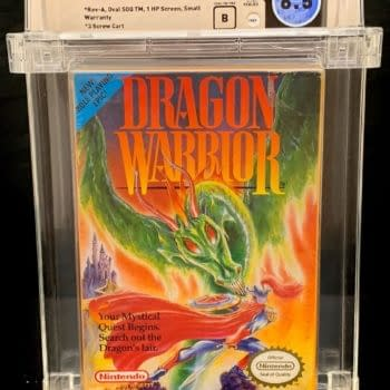 Graded Copy Of Dragon Warrior For NES Auctioning At Comic Connect