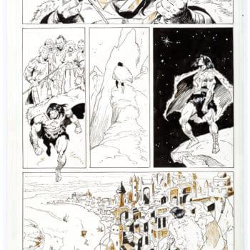John Buscema's Final JLA Barbarians Original Artwork at Auction