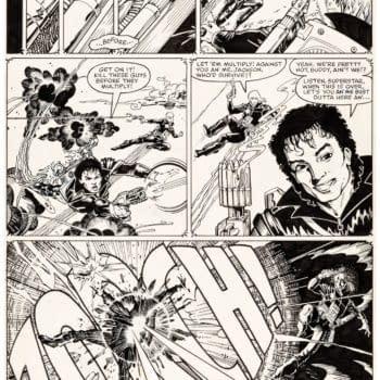 Arthur Adams X-Men, Superman and Longshot Original Artwork at auction