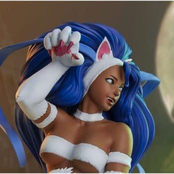 Street Fighter x Darkstalkers Menat as Felicia Statue PCS Statue