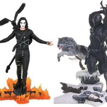 Snake Eyes and The Crow Get New Statues from Diamond Select Toys